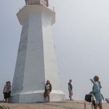 Tourist's at Peggy's Cove