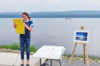 Clara Hughes in Deep River